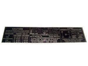 New-Good-Quality-Aluminum-Jeep-Willys-Cj2a-Cj3a-Cj3b-Dash-Data-Plate