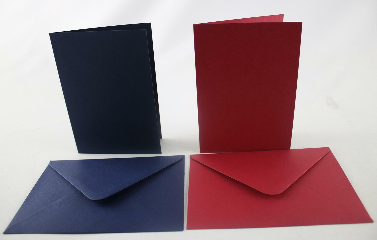 Coingallery Craft UK Red and blue C6 50 cards and envelopes wedding invitations 4th July
