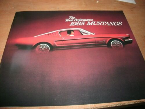 1965 FORD MUSTANG COUPE CONVERTIBLE FASTBACK GT DEALERSHIP SALES BROCHURE NEW