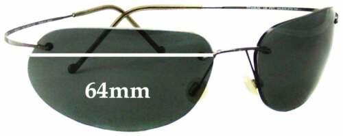 64 mm W Effets spéciaux de remplacement Lunettes De Soleil Lentilles Pour Maui Jim MJ501 Golfer Titane
