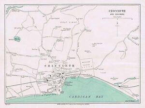 Vintage Folding Map 1937 VALE OF NEATH