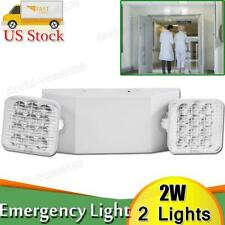 2x Led Emergency Exit Light Double Dual Head Home Office Market Ul Lighting Lamp