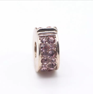 2710bae90 Pink Shining Elegance Clip Charm Silver Plated In Rose Gold Colour ...