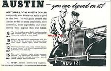 Publicité 1946 Austin 12 HP car automobile advertising