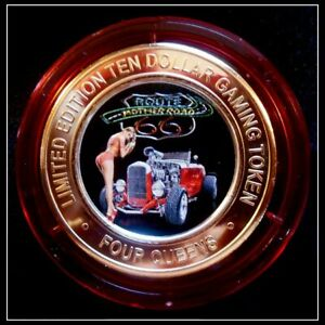 """June 2019 Tournament Four Queens /""""Route 66/"""" $10 Blue Cap #2 Las Vegas"""