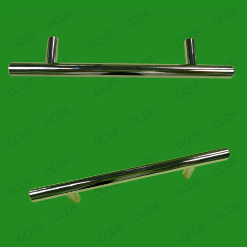 3x 96mm Chrome Effect T Handle Bar Door Drawer Handle Wardrobe Cupboard Cabinet