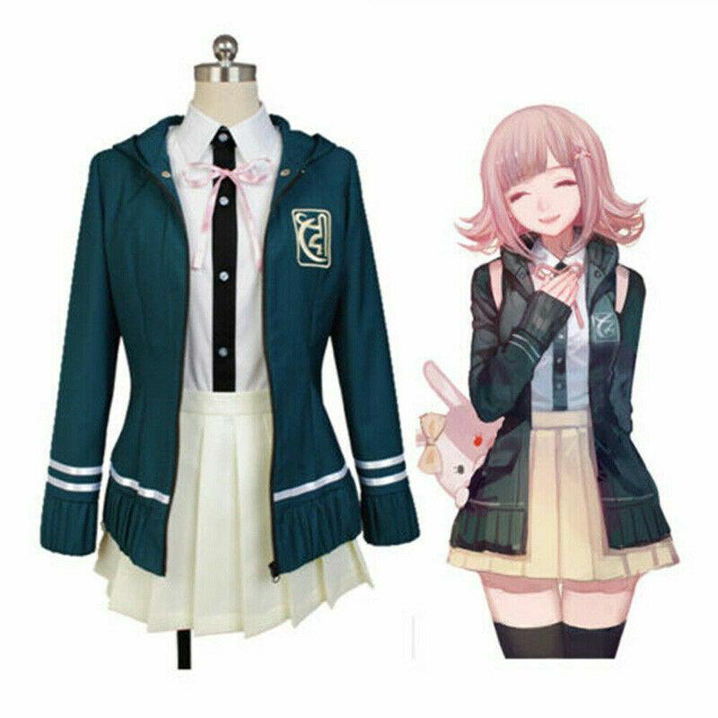 Danganronpa 2 Nanami ChiaKi Uniform Suit Cosplay Costume Full Set Fancy Dress
