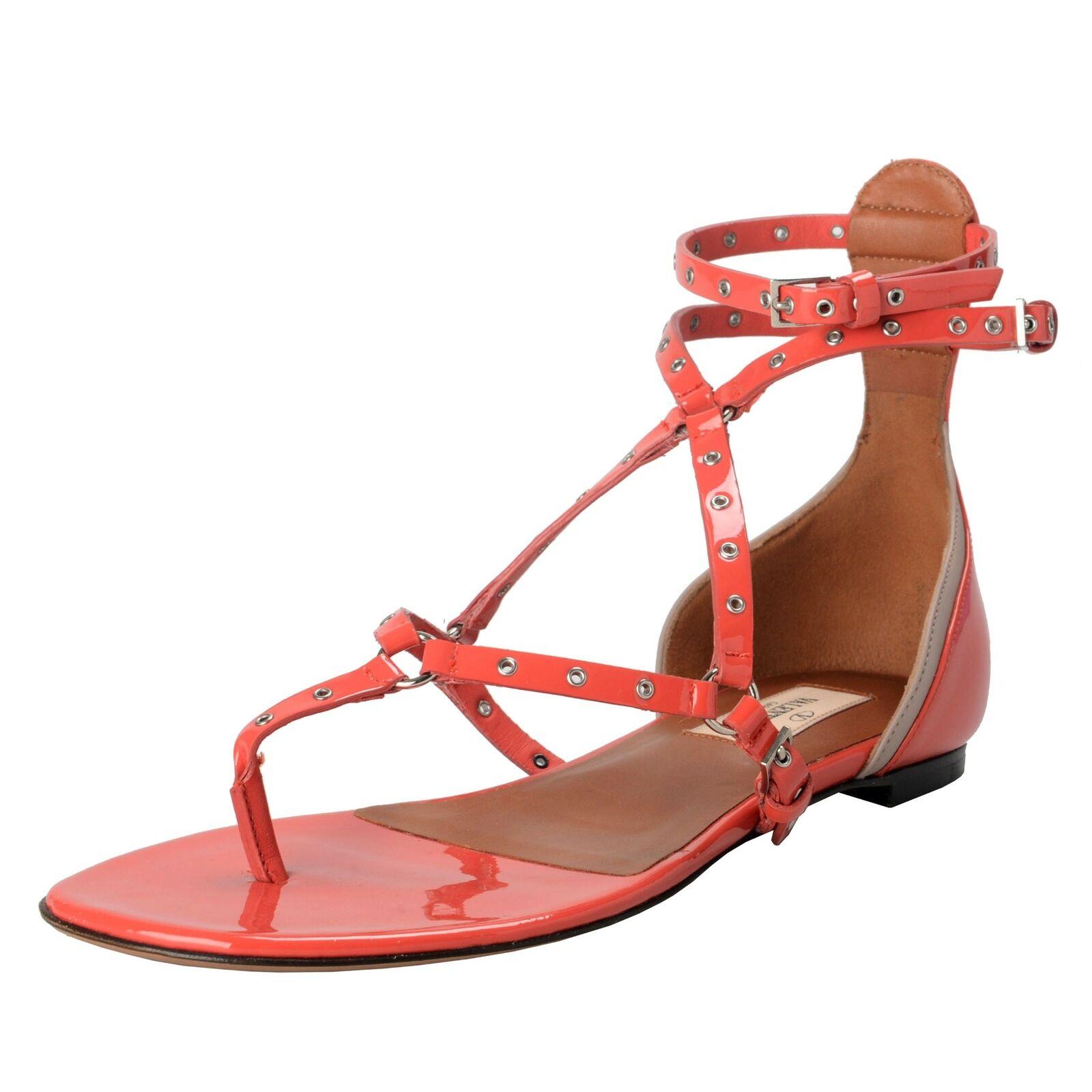 Valentino Garavani Mujer Tiras Zapatos Sandalias Bajas Talla 6 6.5 7 7.5 8 8.5 9
