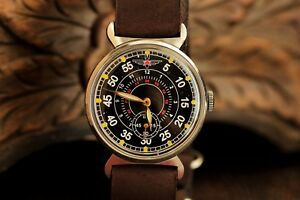 Pobeda-Zim-Wristwatch-Pilot-Komandirskie-Men-039-s-Wrist-Mechanical-Military