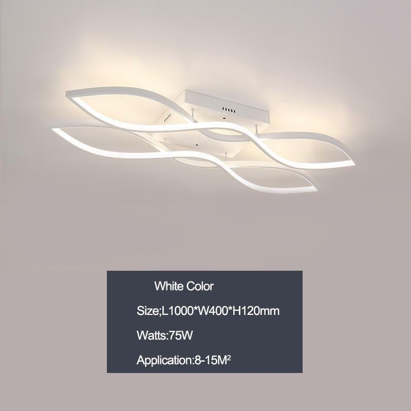 Rectangle Weiß Or Coffee Finish Finish Finish Modern Led Minimalism Ceiling Lights For Living 16f4e1