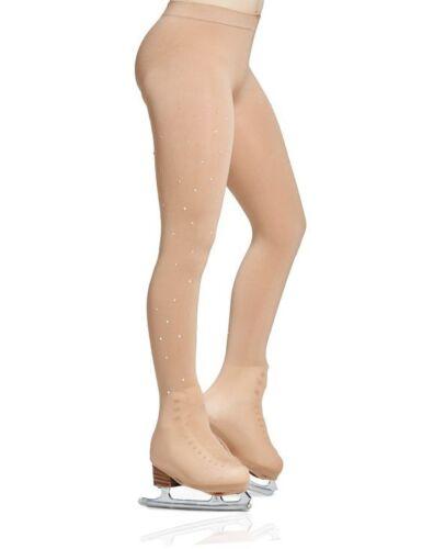 Caramel MONDOR 912 Boot Cover Skating Tights w// RHINESTONES KR NEW