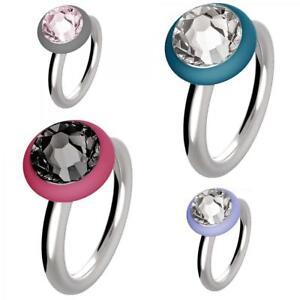 HIP-HOP-anello-donna-acciaio-cristallo-pietra-veretta-fedina-fede-originale-DD