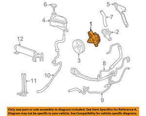 cadillac gm oem 04 09 srx power steering pump 25900769 ebay 2002 Cadillac DeVille Diagram image is loading cadillac gm oem 04 09 srx power steering
