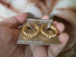 CLOSEOUT-SALE-From-USA-69-99-Danecraft-24-KT-Gold-Over-100-Earrings-4