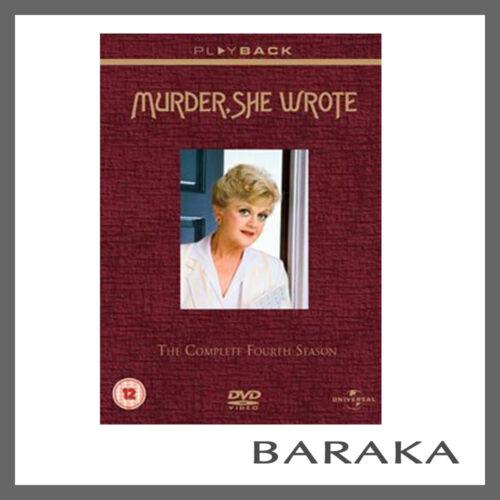 1 of 1 - Murder, She Wrote Series Season 4 DVD Region 4 Fourth 6 discs New & Sealed