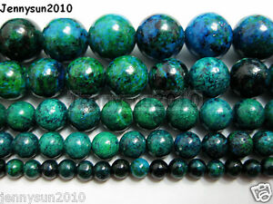 Synthetic-Chrysocolla-Gemstone-Round-Loose-Beads-16-039-039-4mm-6mm-8mm-10mm-12mm