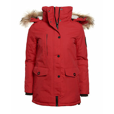 Neue Damen Superdry Everest Parka Rot