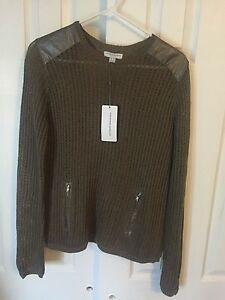 Image is loading KATHERINE-BARCLAY-Khaki-Sweater-Long-Sleeve-K1777-Size- 1c822e367