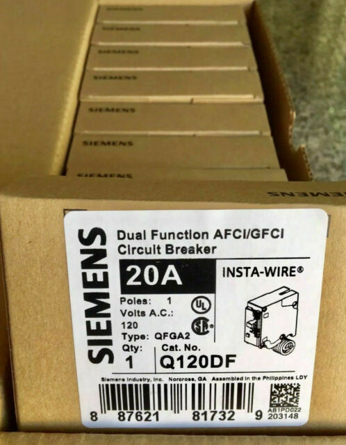 10 Pcs Siemens Q120df 20 Gfci Dual Function Circuit Breaker New