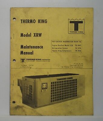 Thermo King XRW Truck Refrigeration Unit Maintenance Manual Wiring Diagrams  | eBayeBay