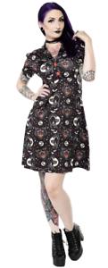 Sourpuss Lucy Fur Punk Rockabilly Black Cat Halloween 40/'s Rosie Dress SPDR362