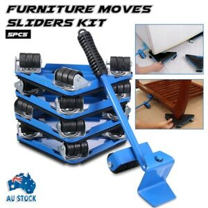 VIZIONSTAR Magic Mover 5 Pieces Furniture Lifter Moves Wheels Mover Sliders Kit - Blue