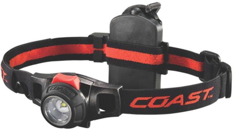 NEW COAST HL7R HEADLAMP HEAD LAMP RECHARGEABLE AC USB 3 AAA FLASH LIGHT 1660000