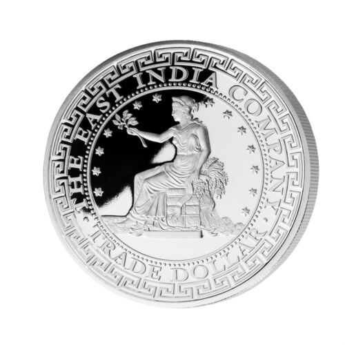 East India Co 2018 Niue 1 oz Silver Proof US Trade Dollar Restrike 2500 minted