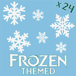 Image Is Loading SNOWFLAKES X 24 Snowflake Elsa Anna Frozen Themed