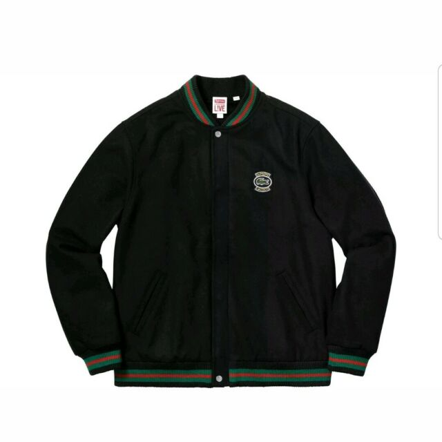 27a115c4d47f Supreme Lacoste Wool Varsity Jacket Size Large Ss18 for sale online ...