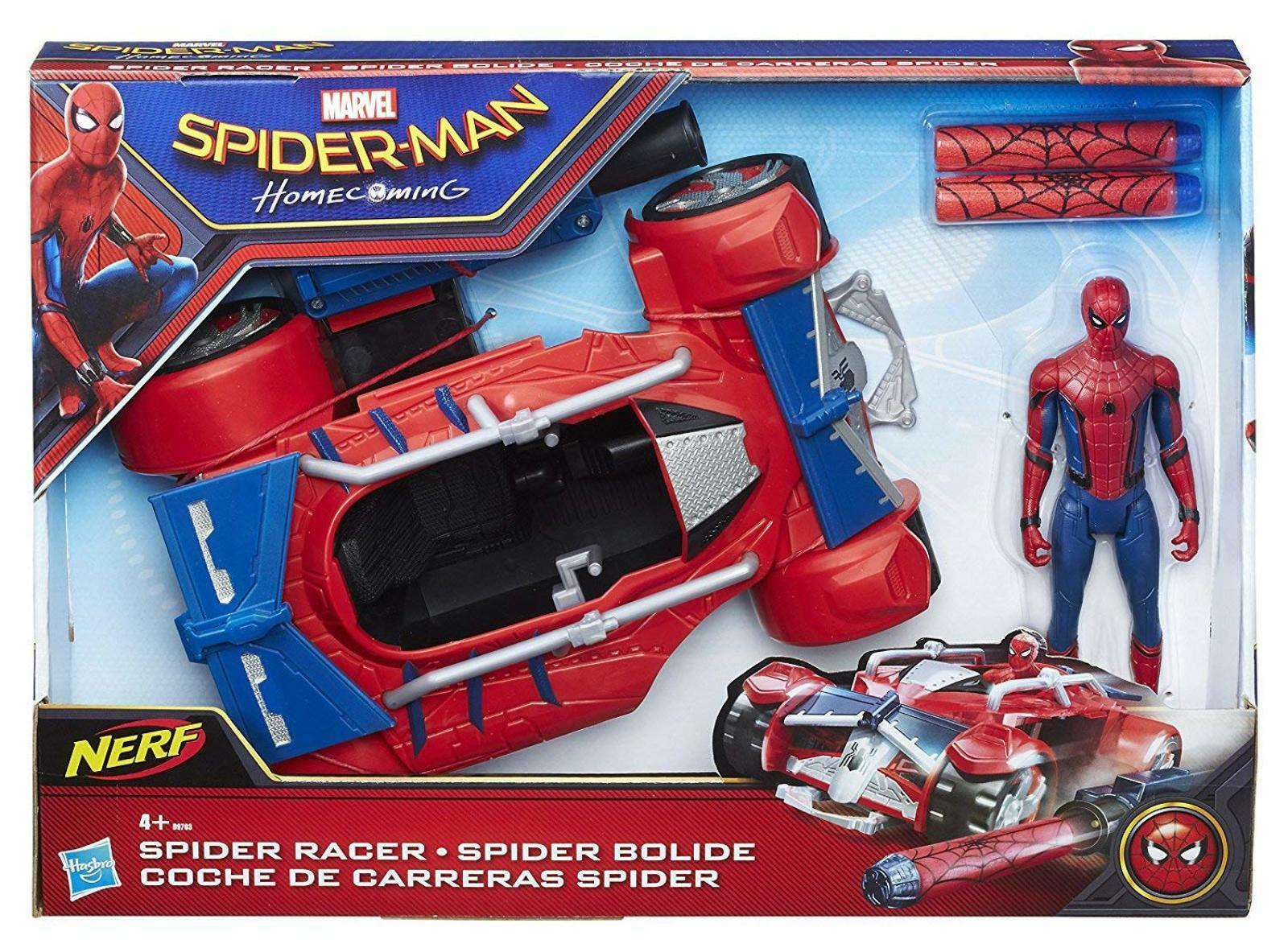 Spider Man Homecoming Spider Racer Car Vehicle Action Figure Set Box Xmas Gift