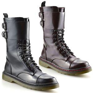 Filles-Enfants-Femme-Nouveau-Lacets-Casual-Style-Militaire-Bottines-Motard-Pointure