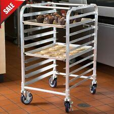 10 Pan End Load Half Height Bakery Bun Sheet Pan Speed Rack Aluminium Rolling