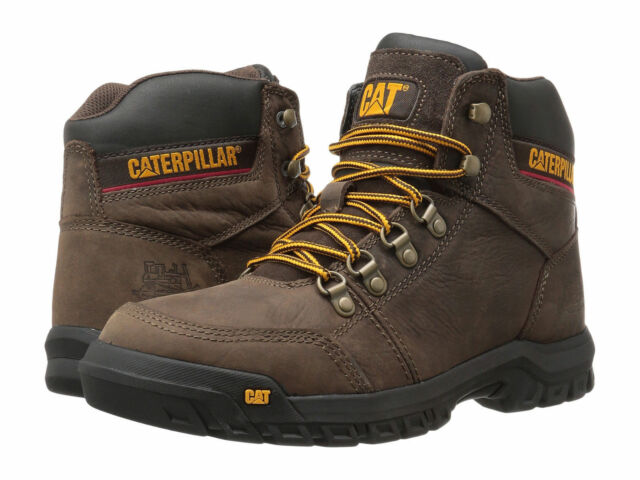 Men Caterpillar Outline Soft Toe Work Boot P74087 Seal Brown 100% Authentic New
