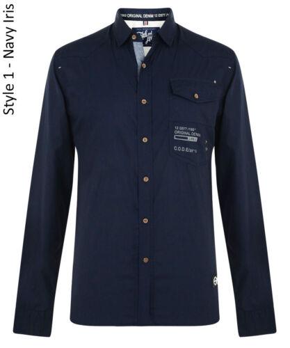 Smith /& Jones Uomo Nuova Manica Lunga Slim Fit Camicie Semplice Casual Small S