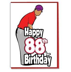 Image Is Loading Golf Golfer 88th Birthday Card Dad Son Grandson