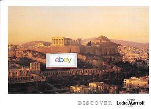 Marriott Hotel Ledra Athens Greece Jumbo Size Parthanon Postcard Ebay