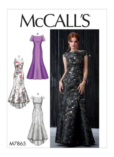 M7865 Sewing Pattern Formal PROM Special Occasion Lined Dresses McCall/'s 7865