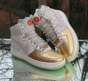 Nike Air Force 1 High Year Of The Horse 649456 001 Gold Women S