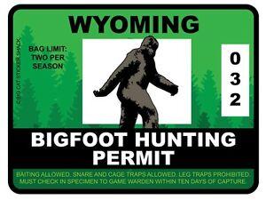 Bigfoot-Hunting-Permit-WYOMING-Bumper-Sticker