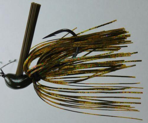 Bob4Bass Light Wire DC Arky Skirted Jig w//Mustad Hook LI1
