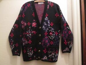 9e718b9f6a Image is loading Vintage-Knit-Cardigan-Geek-Chic-Pocket-Sweater-Camela-