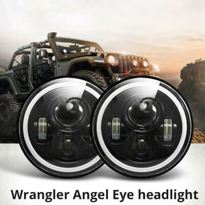 1x7-034-faro-LED-RGB-Halo-proiettore-Angel-Eye-DRL-per-Jeep-Wrangler-JK-TJ-LJ-nuovo