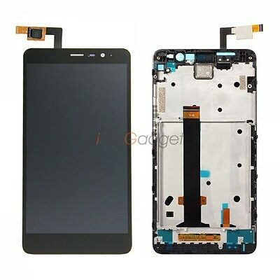 Black White Gold Display For Xiaomi Redmi Note 3 Pro LCD Screen Frame Assembly
