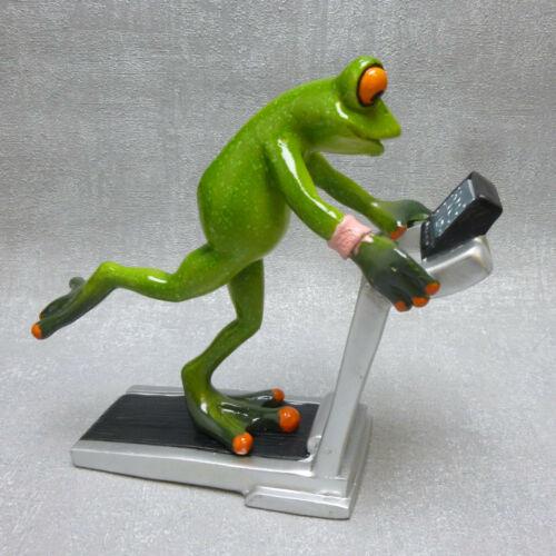 Formano Deko Frosch Fitness Laufband Sport  grün Geschenk