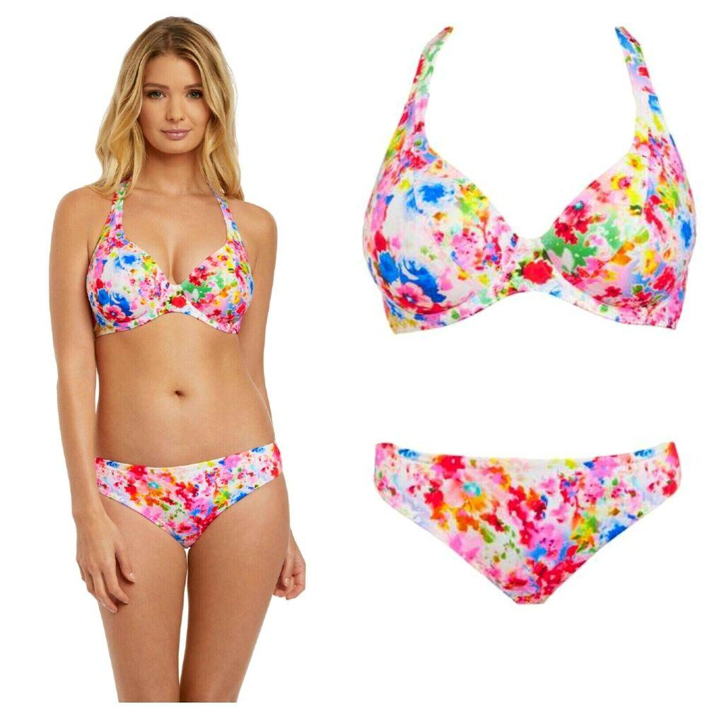 Freya Taille 38e Top & 18 Bas Non Rembourré Endless Summer Rio Bikini £ 60 @ Prochain