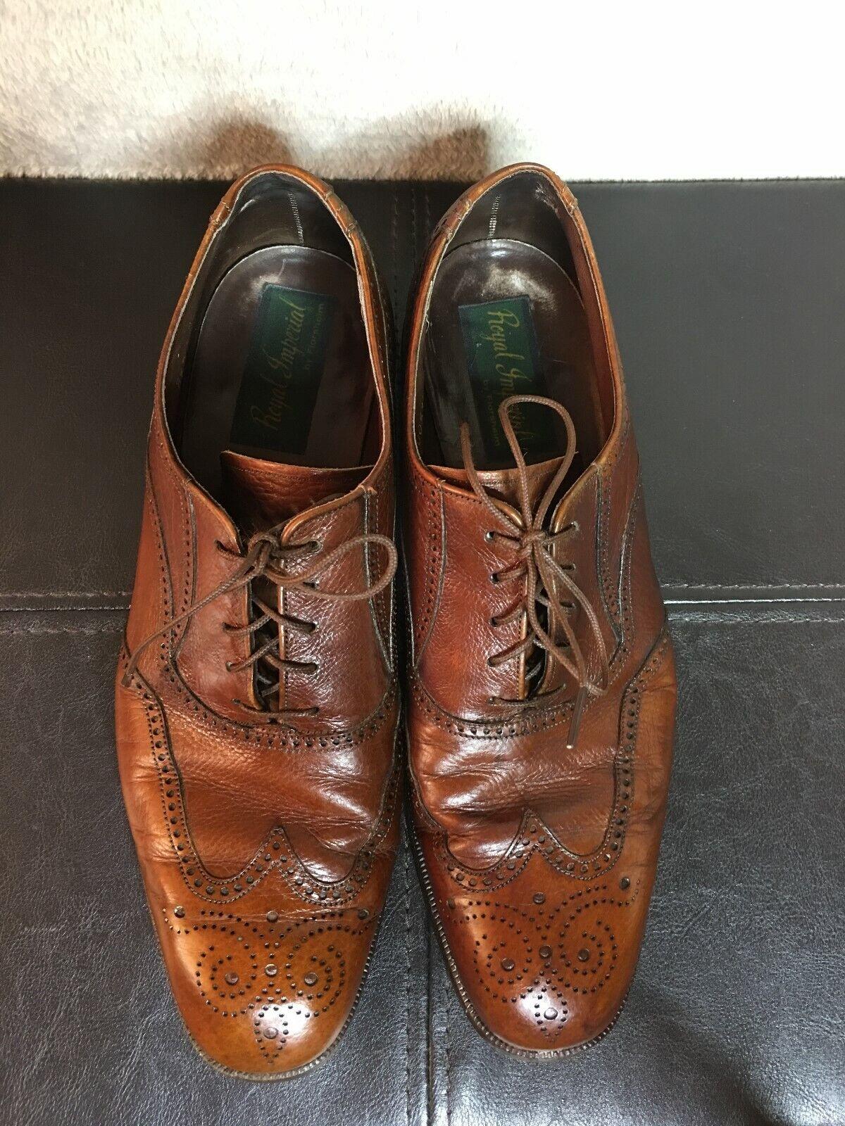 Hombre Vintage FLORSHEIM Royal Imperial 97306 Ala-Punta Zapato Zapatos  2 D