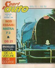 SPORT AUTO 49 1966 F1 1961 1965 MATRA MS5 BUGATI 35 CITROEN DS 21 APAL J STEWART
