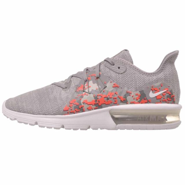 7f591649f4 Nike Wmns Air Max Sequent 3 C Running Shoes White Vast Grey AJ0005-101