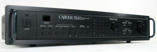 CARVER DPL-33 DOLBY PRO LOGIC AMPLIFIER SOUND PROCESSOR W REMOTE MANUAL  NICE!